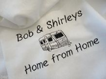 Personalised Caravan Teatowel  *Home from Home Design*
